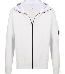 c.p. company zip-through hooded sweater - grey