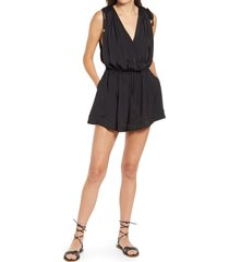 free people bea sleeveless romper, size x-small in black at nordstrom