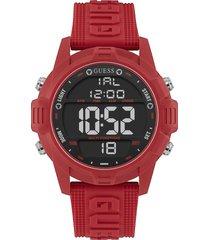 reloj guess hombre charge/w1299g3 - rojo