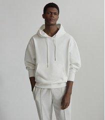 reiss field - oversized hoodie in ecru, mens, size xxl