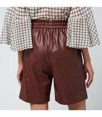 munthe women's pantas shorts - bordeaux - eu 40/uk 12