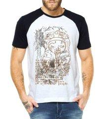 camiseta raglan criativa urbana étnico africano