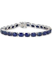 sapphire tennis bracelet (25 ct. t.w.) in sterling silver