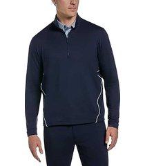 callaway men's swingtech classic fit lightweight fleece 1/4 zip golf sweater navy - size: small