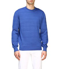 z zegna sweater z zegna crew-neck sweater in silk and cotton
