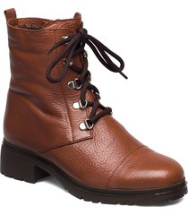 warm lamb fur lining c-4841-m shoes boots ankle boots ankle boots flat heel brun wonders