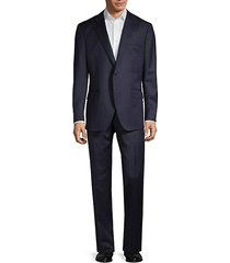 traveller modern-fit stripe wool suit