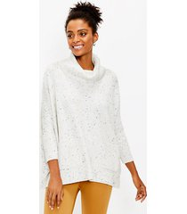 loft flecked pocket poncho sweater