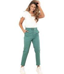 pantalon mielero verde ragged pf12310295