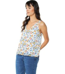 blusa blanco-multicolor arkitect éxito