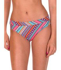 bikini lisca hoge taille zwempakkousen capri koraal