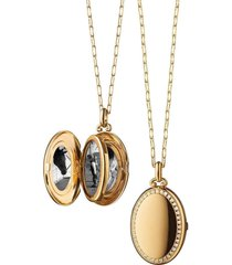 midi four image diamond border locket necklace