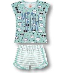 pijama marisol - 10316216i verde - kanui
