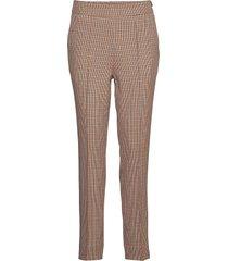 lena hw trousers pantalon met rechte pijpen bruin second female