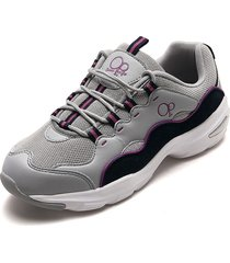tenis running gris-violeta-blanco-azul ocean pacific merkel-m3