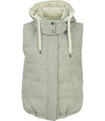 gilet jacket with hoodie