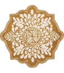 dywan dekoracyjny okrągły oranje 120 cm