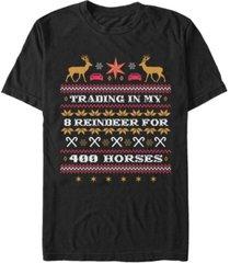 men's christmas chronicles 2 horsepower sweater short sleeve t-shirt