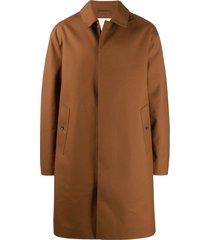 mackintosh dundee bonded wool coat - brown