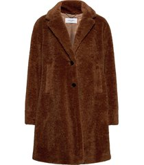 coat not wool outerwear faux fur brun gerry weber edition