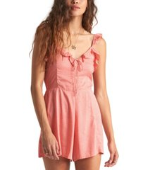 billabong juniors' flirty free ruffled romper