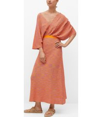 mango women's bow knitted dress