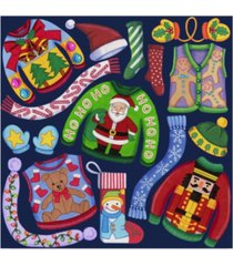 "kimura designs 'christmas ugly sweaters' canvas art - 18"" x 18"""