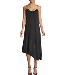 asymmetrical silk shift dress