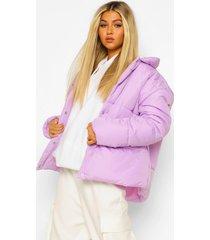 tall gewatteerde jas, lilac