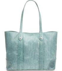frye melissa leather shopper - blue