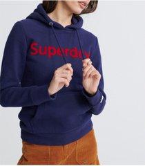 superdry registered flock hoodie