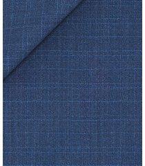 giacca da uomo su misura, loro piana, stretch principe di galles lana blu, quattro stagioni | lanieri