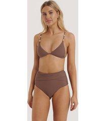 na-kd swimwear bikinitrosa med hög midja - purple