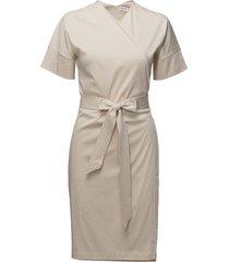 belted wrap dress kort klänning creme filippa k