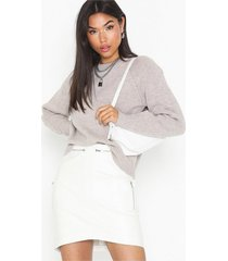 missguided curved hem zip mini skirt minikjolar