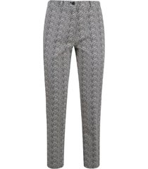 etro buttoned motif print trousers