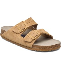 arizona soft footbed shoes summer shoes flat sandals beige birkenstock