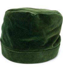 a.n.g.e.l.o. vintage cult 1950's velvet effect hat - green