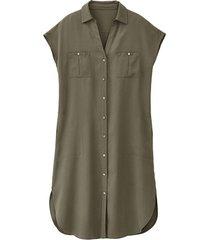 blousejurk van tencel™, olijfgroen 46