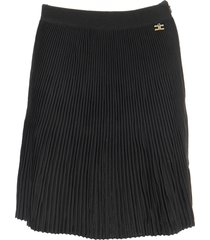 elisabetta franchi pleated knit mini skirt