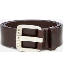 diesel men's b-star leather belt - brown - w36/90cm