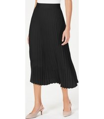 alfani petite knife pleat midi skirt, created for macy's