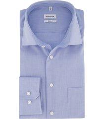 overhemd seidensticker blauw regular fit