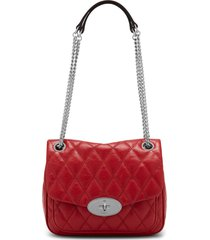 mulberry small darley convertible quilted leather shoulder bag - red