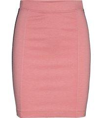 milano logo elastic skirt kort kjol rosa calvin klein jeans