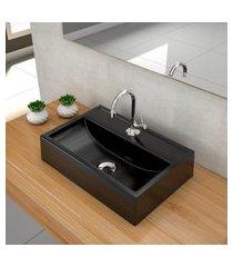 kit cuba para banheiro trevalla q45e torneira válvula 1pol preto