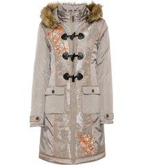 cappotto ricamato (grigio) - rainbow