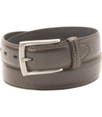 dockers big-tall leather two-row stitching men's belt