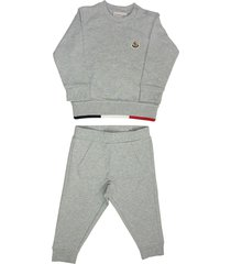 moncler logo patch tracksuit set