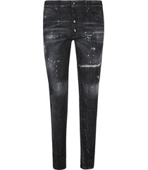 dsquared2 patchwork distressed effect jeans